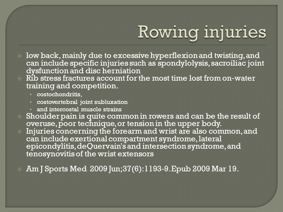 Rowing injuries