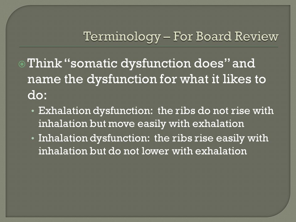 Terminology – For Board Review