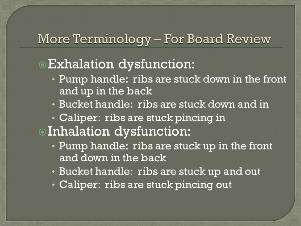 More Terminology – For Board Review