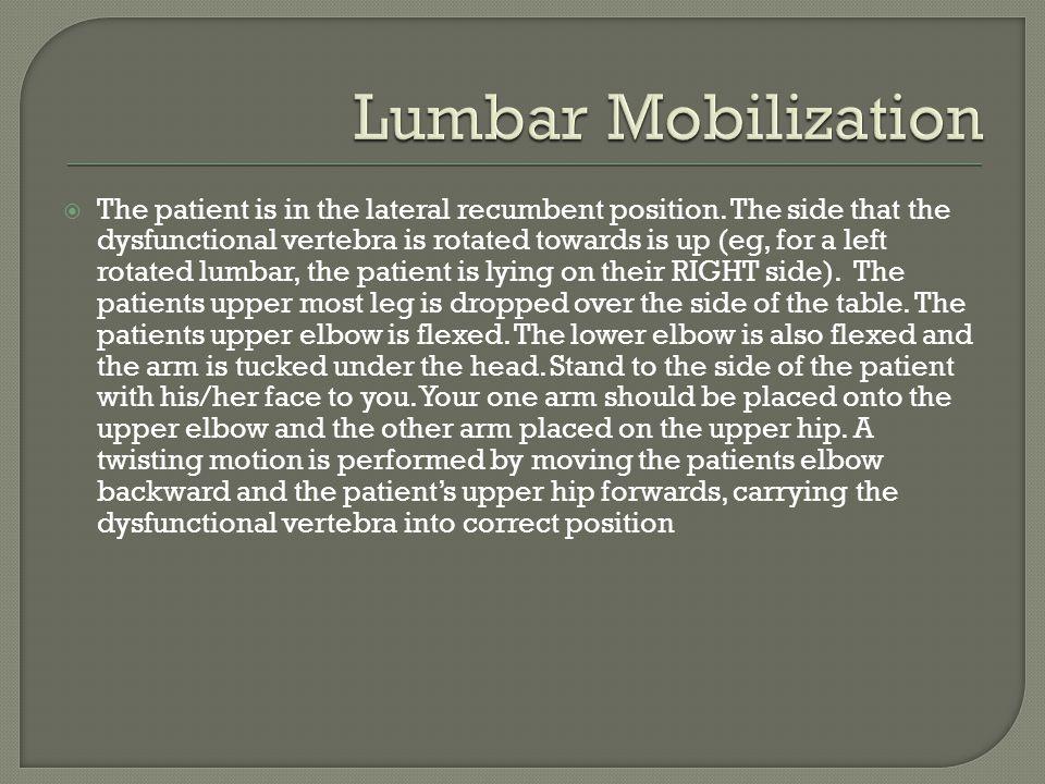 Lumbar Mobilization