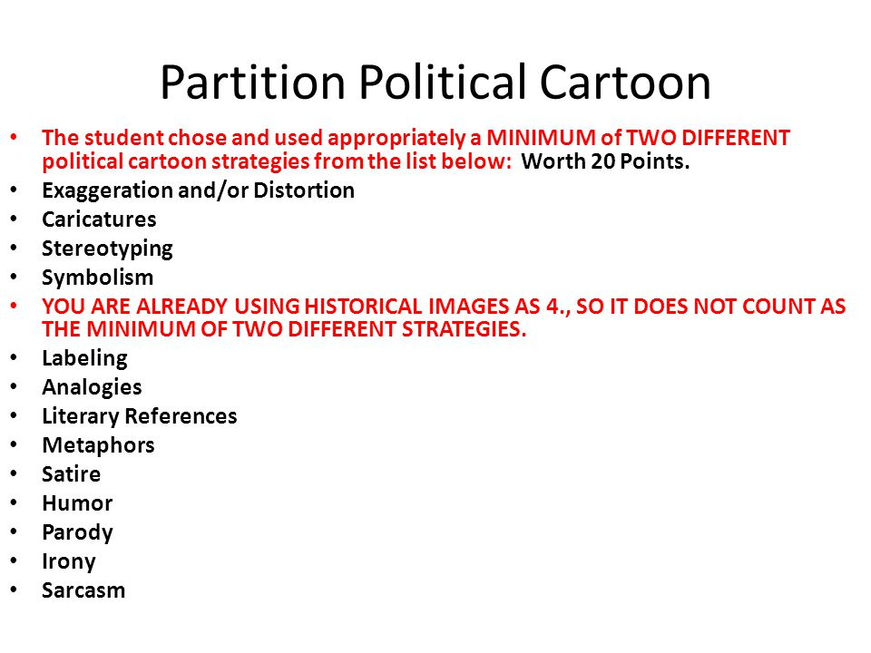 Partition Political Cartoon