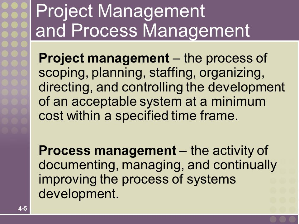 Project Management and Process Management