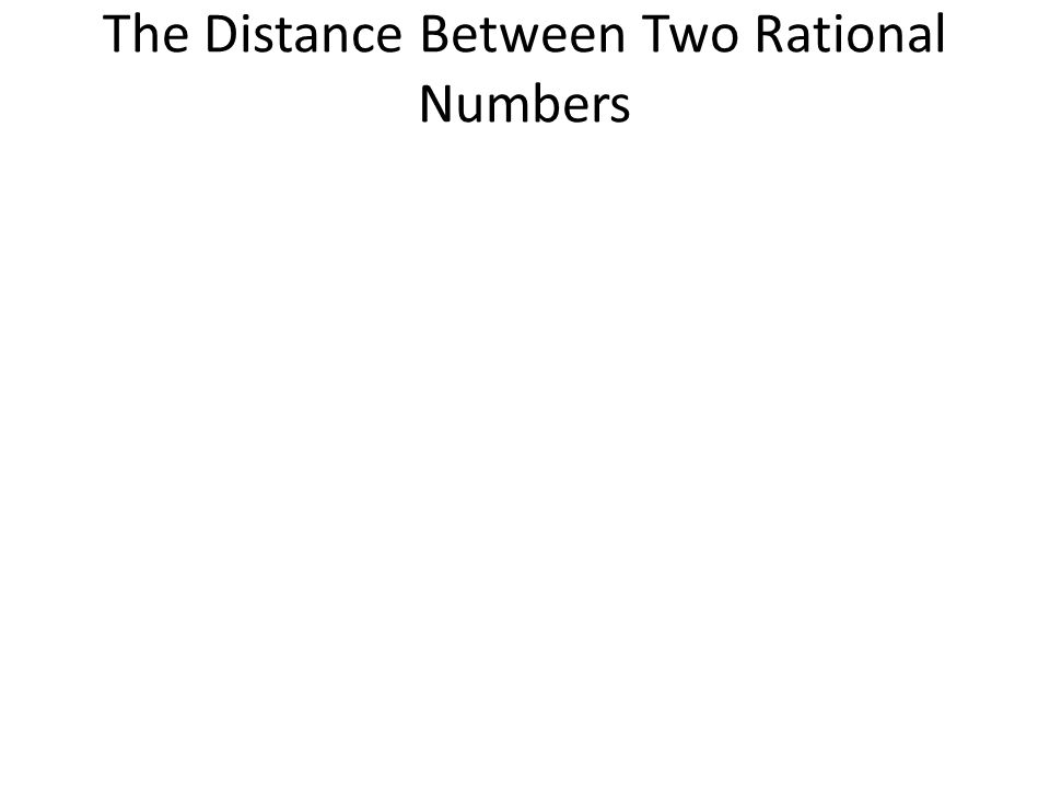The Distance Between Two Rational Numbers