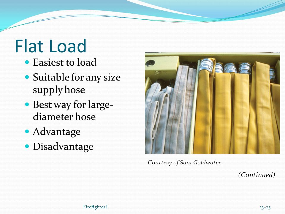 Flat Load Easiest to load Suitable for any size supply hose