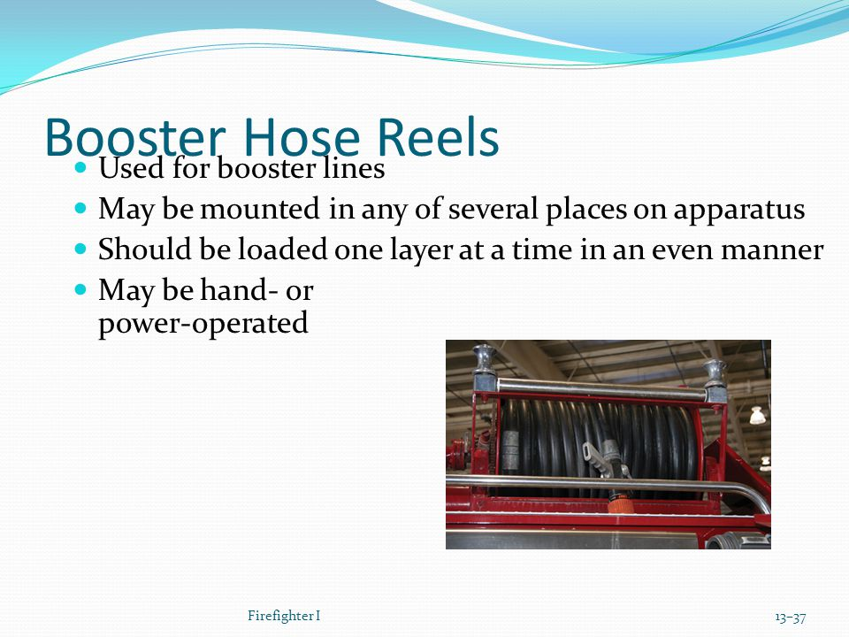 Booster Hose Reels Used for booster lines