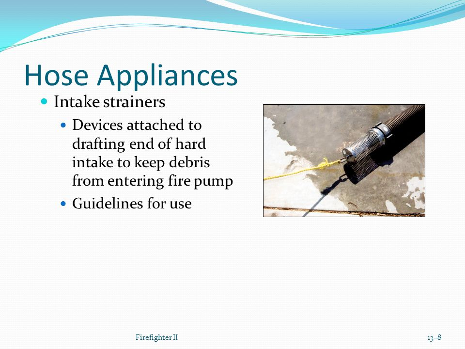Hose Appliances Intake strainers