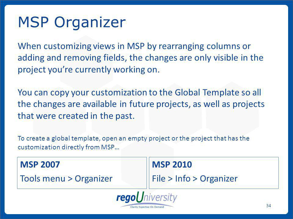 MSP Organizer