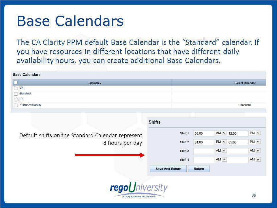 Base Calendars