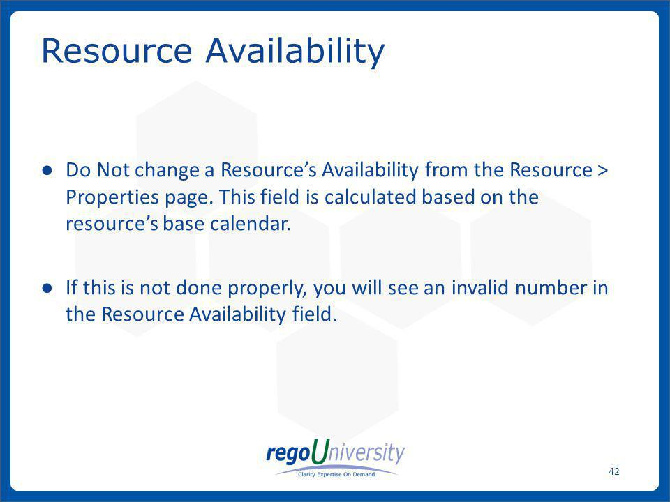 Resource Availability