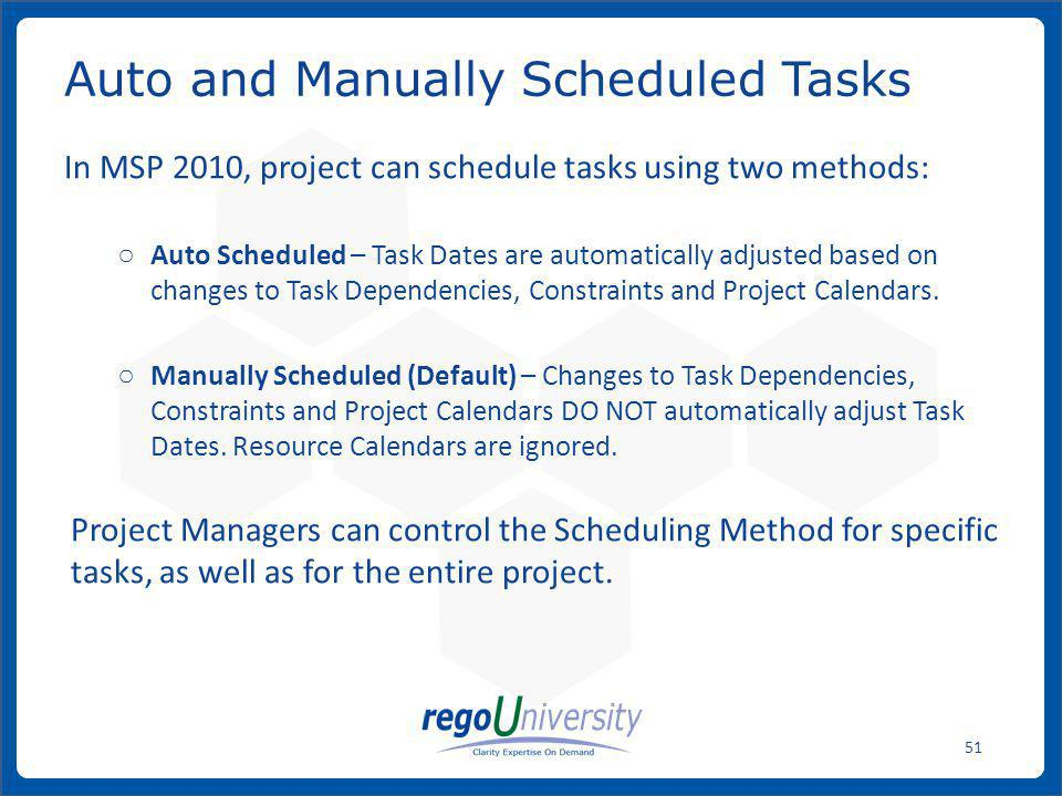Auto and Manually Scheduled Tasks