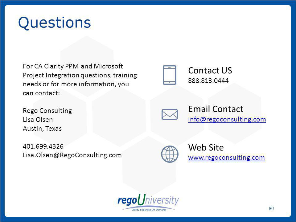 Questions Contact US Email Contact Web Site