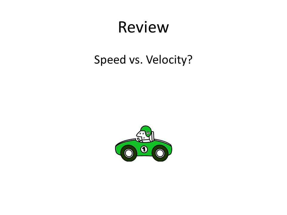 Review Speed vs. Velocity