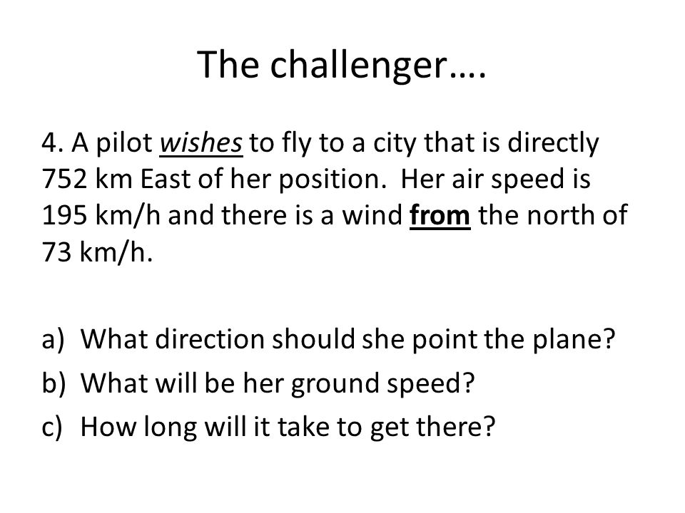 The challenger….