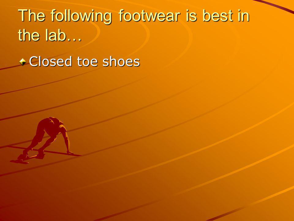 The following footwear is best in the lab…