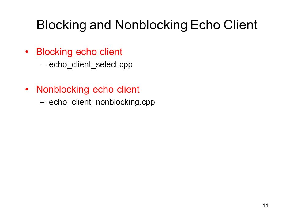 Blocking and Nonblocking Echo Client