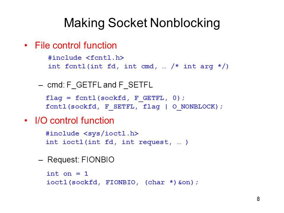 Making Socket Nonblocking