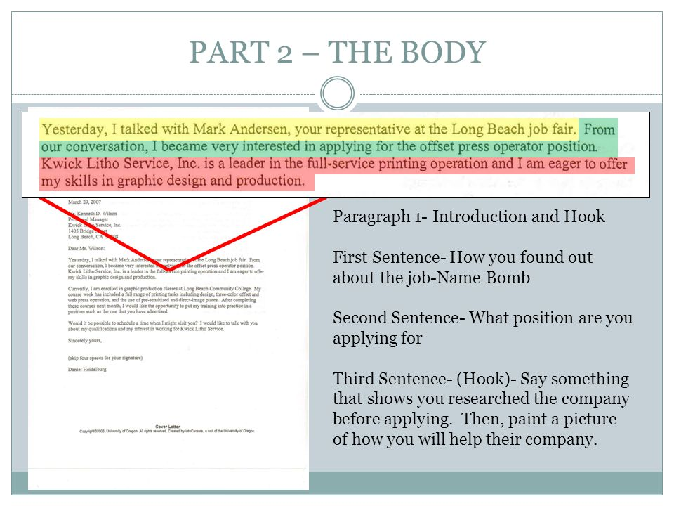 PART 2 – THE BODY Paragraph 1- Introduction and Hook