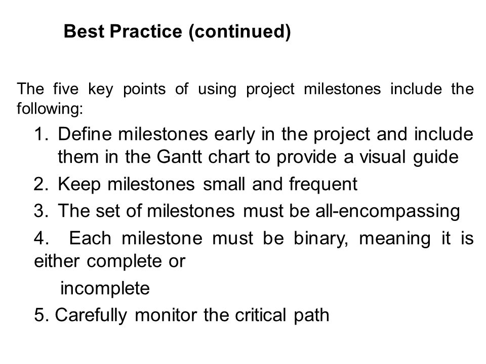 Best Practice (continued)