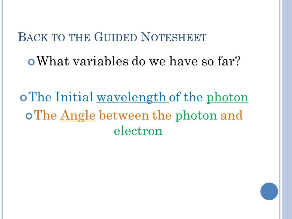 Back to the Guided Notesheet