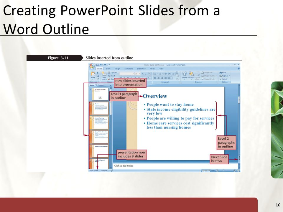 Creating PowerPoint Slides from a Word Outline