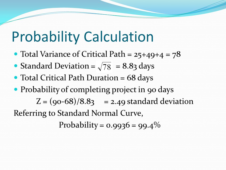 Probability Calculation