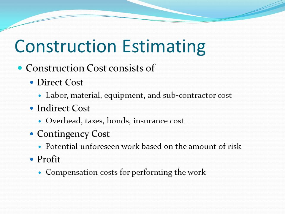 Pe review course construction engineering ppt video for Online construction cost estimator