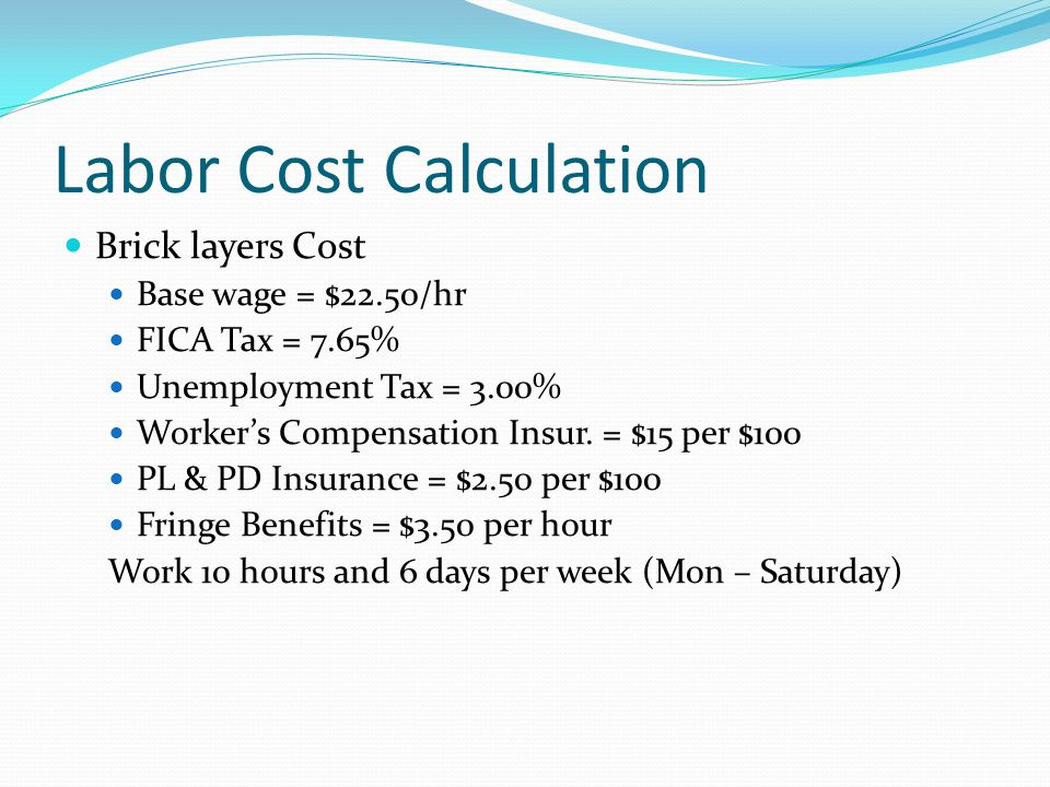 Labor Cost Calculation