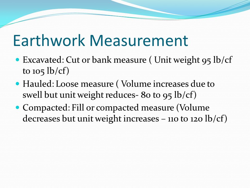 Earthwork Measurement