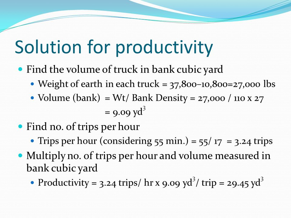 Solution for productivity