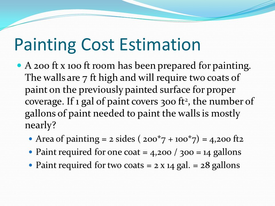 Painting Cost Estimation
