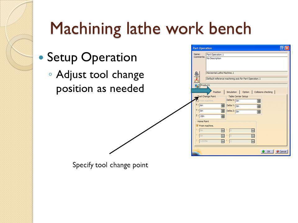 Machining lathe work bench