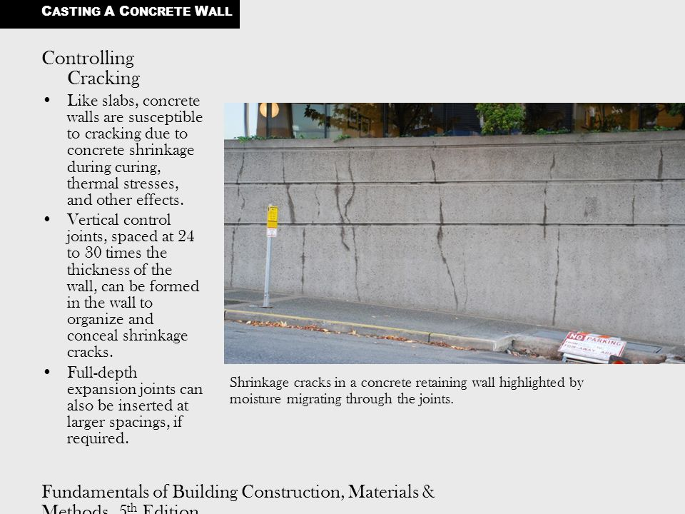 expansion joint concrete wall. casting a concrete wall expansion joint concrete wall