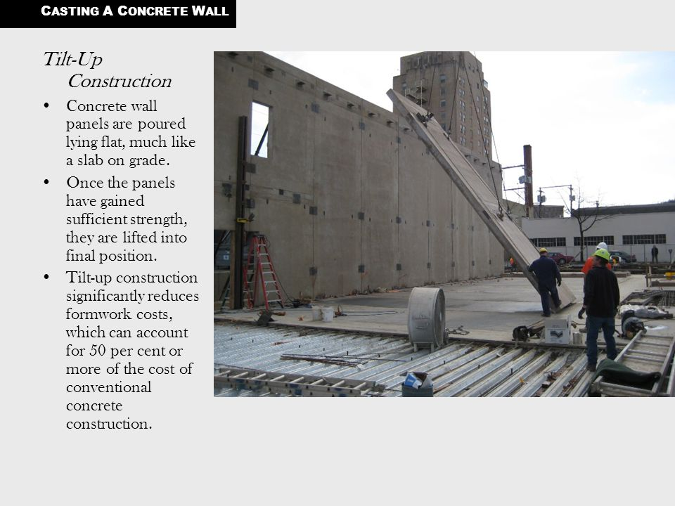 Tilt Up Concrete Slabs : Casting a concrete wall ppt video online download