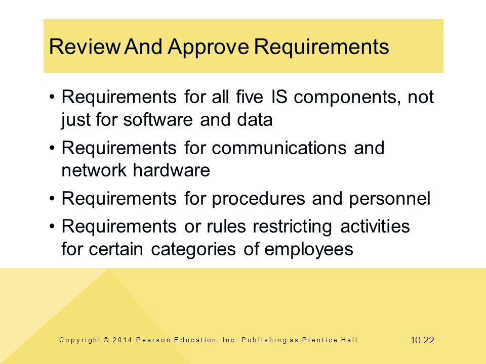 Review And Approve Requirements