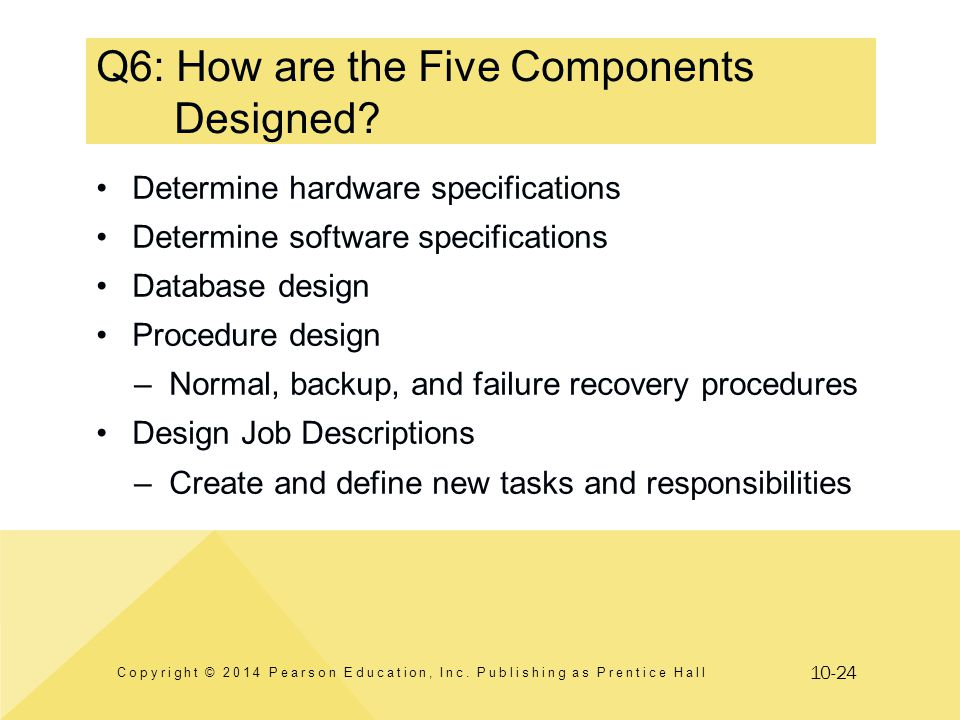 Q6: How are the Five Components Designed