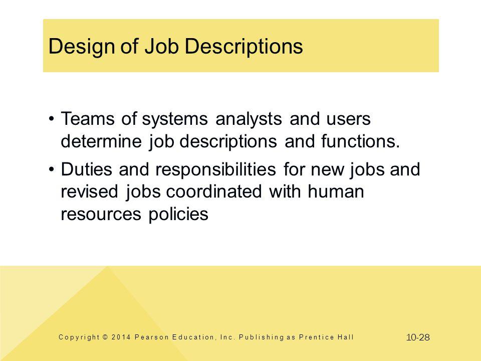 Design of Job Descriptions