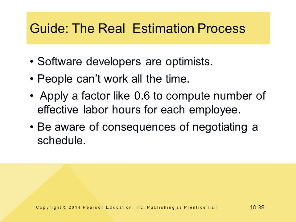 Guide: The Real Estimation Process