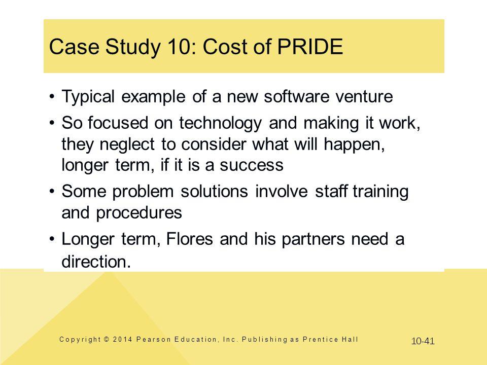 Case Study 10: Cost of PRIDE