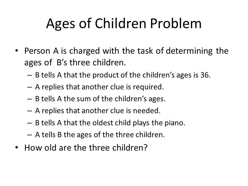 Ages of Children Problem