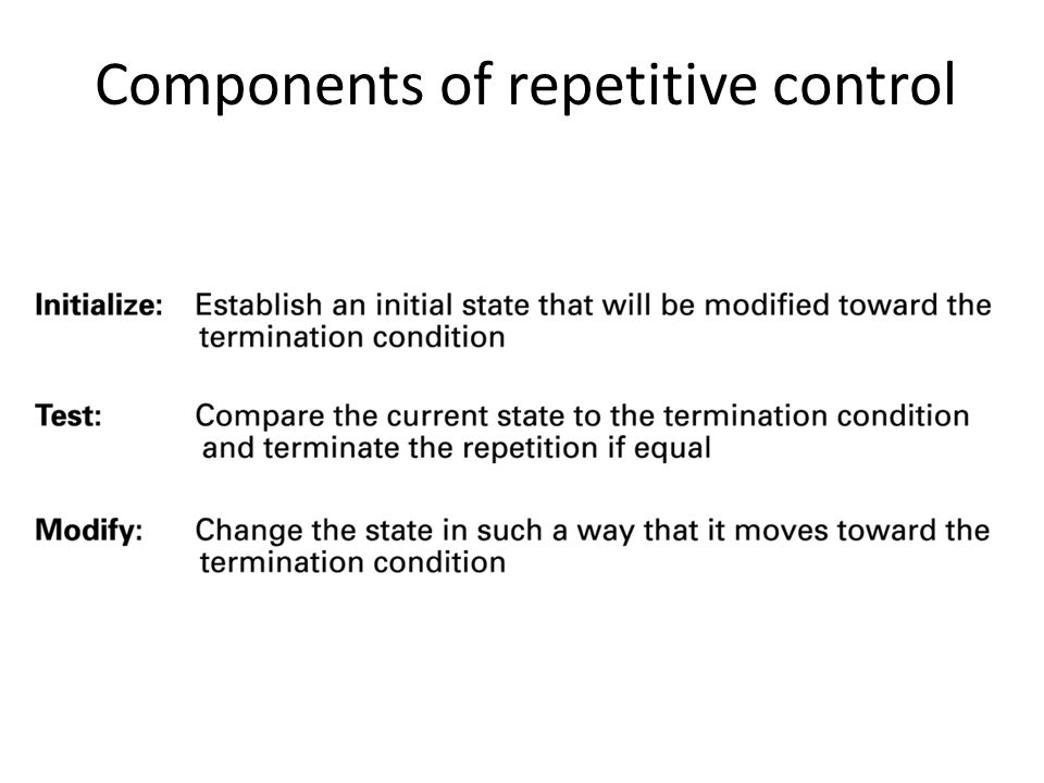 Components of repetitive control