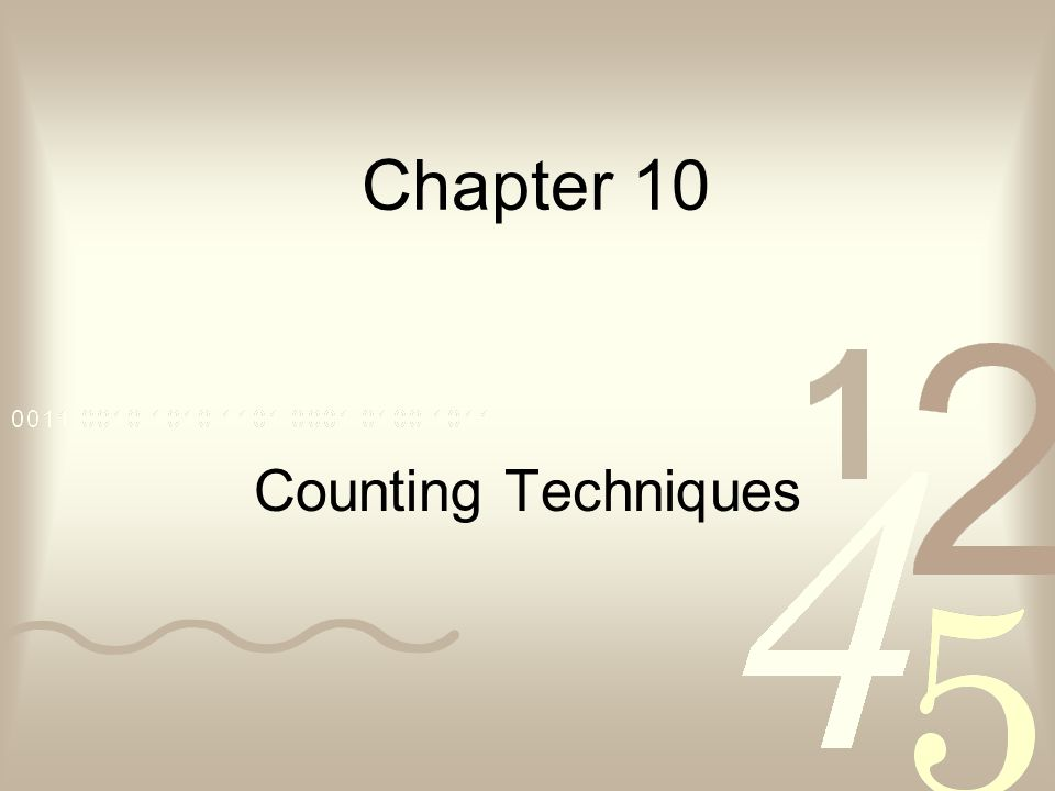 Chapter 10 Counting Techniques