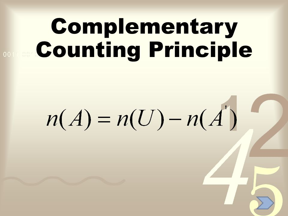 Complementary Counting Principle