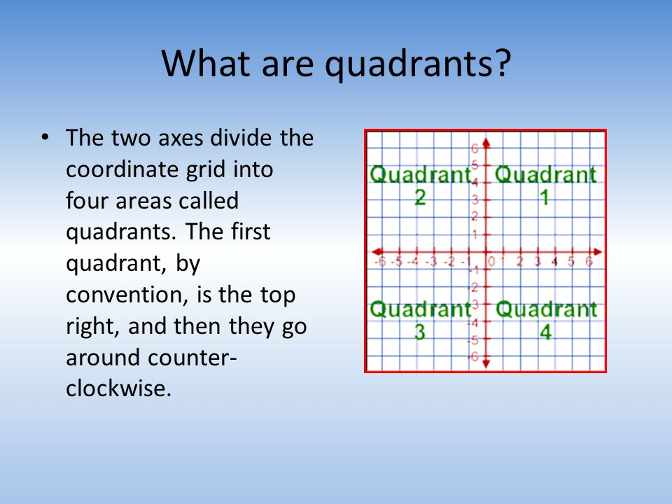 What are quadrants