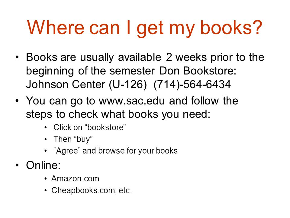 Where can I get my books