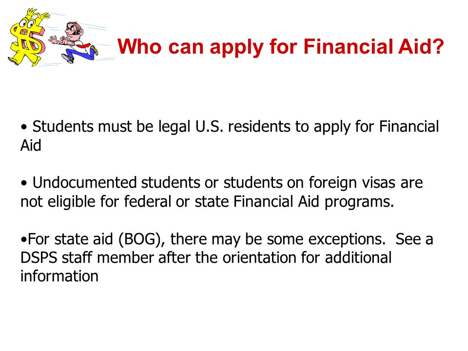 Who can apply for Financial Aid