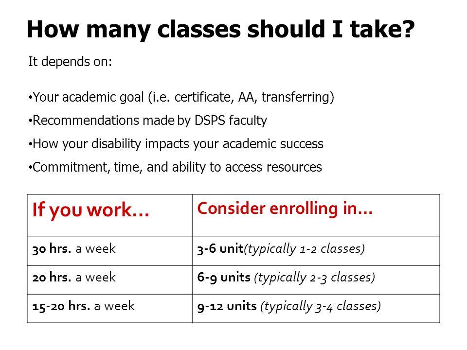 How many classes should I take