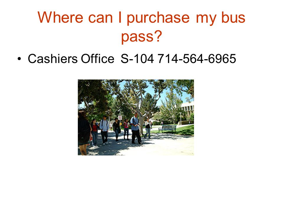 Where can I purchase my bus pass