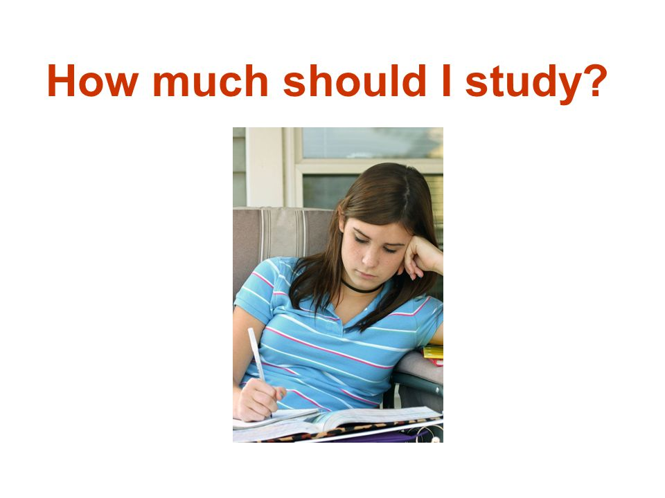 How much should I study