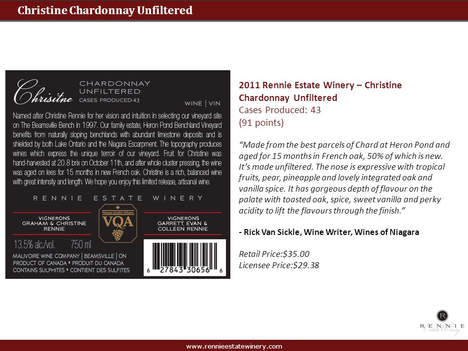Christine Chardonnay Unfiltered