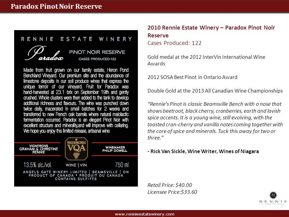 Paradox Pinot Noir Reserve